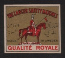 OLD match box label Turkey image gold background #038